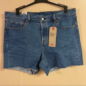 Levi's 501 high rise shorts size 16  button flyNWT